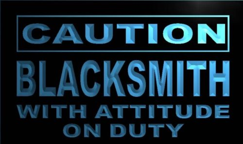 Caution Blacksmith Attitude Neon Light Sign